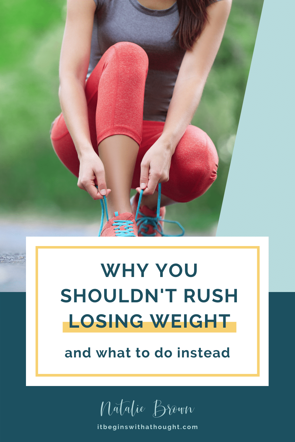 Why You Shouldn't Rush Losing Weight