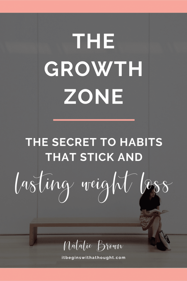 The Growth Zone: The Secret To Habits That Stick & Lasting Weight Loss