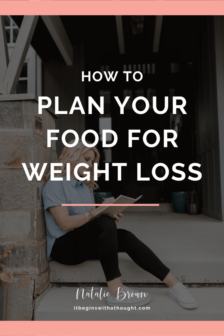Making an eating plan is everything when it comes to weight loss mindset and coaching. Here's how to do it.