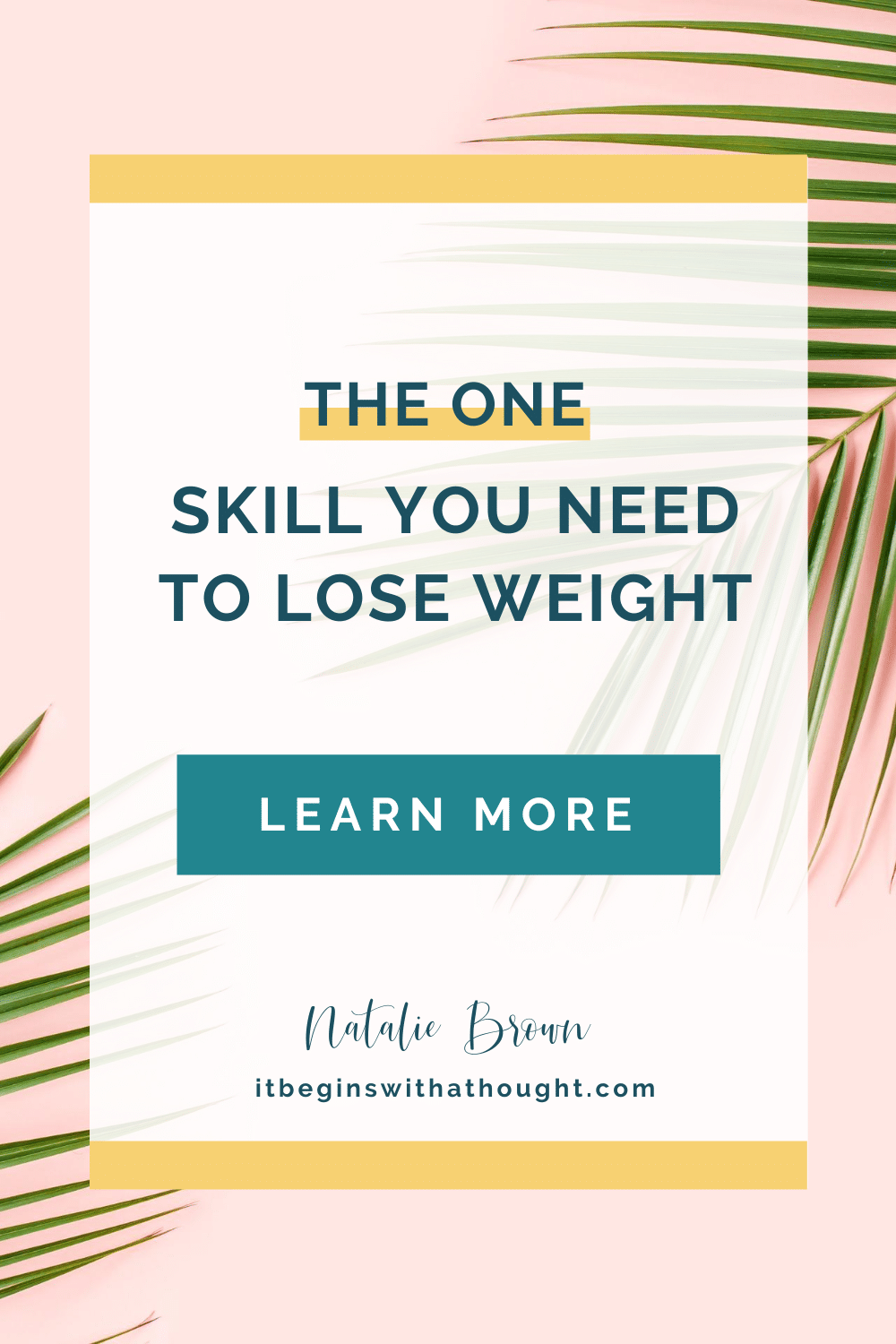 The 1 skill you need to lose weight